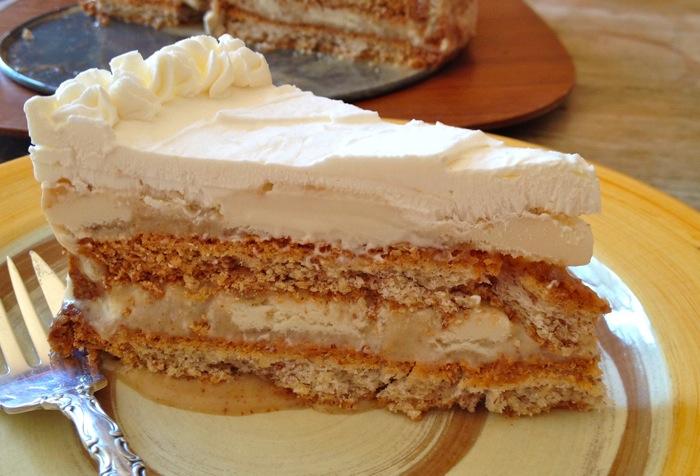 Almond Praline Ice Cream Cake   Panini Girl