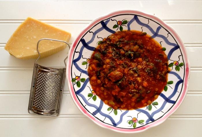 lentil & sausage
