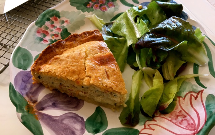 pie and salad