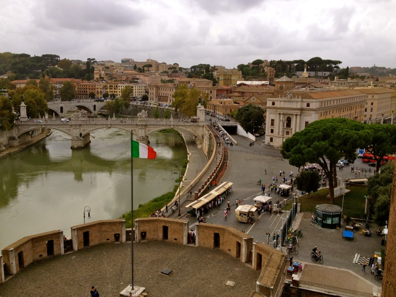 rome from castel